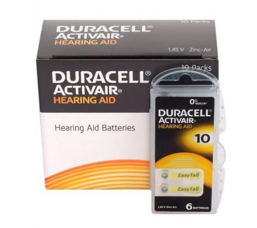 Duracell ActivAir 10 baterijos klausos aparatams
