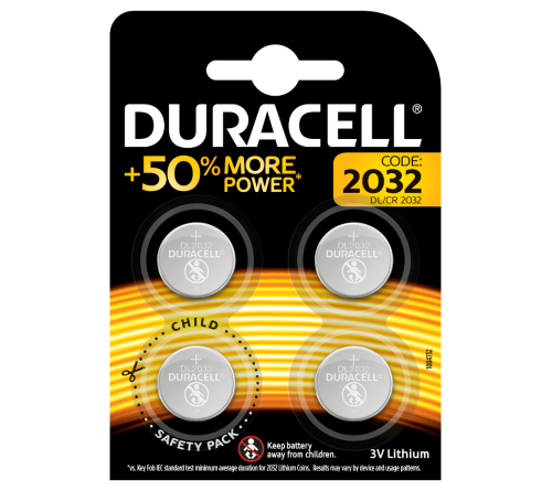Duracell CR2032 3V 4 vnt. blisteris
