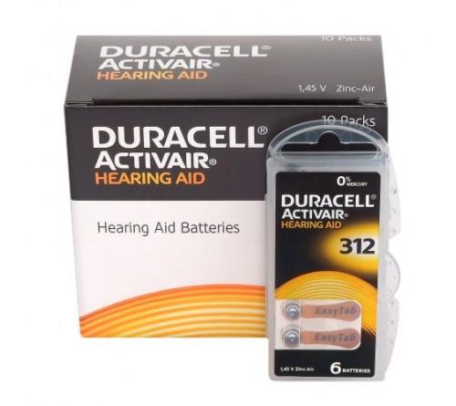Duracell ActivAir 312  baterijos klausos aparatams
