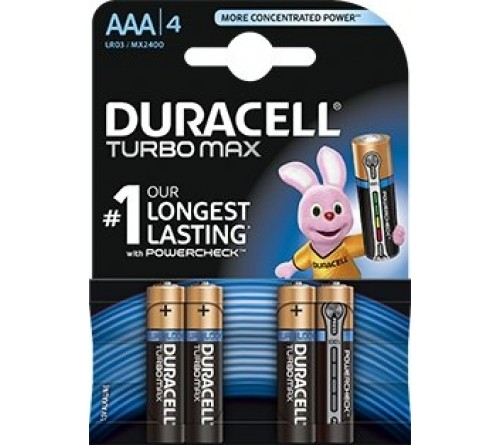 Baterijos Duracell Turbo Max AAA / LR03 4vnt.
