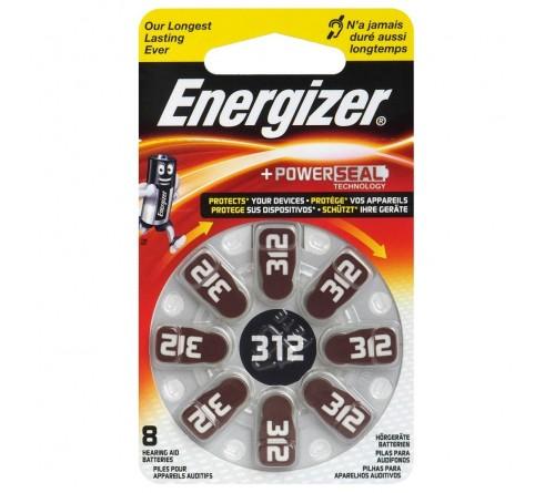 Energizer 312 / PR41 / 8 vnt. baterijos klausos aparatams