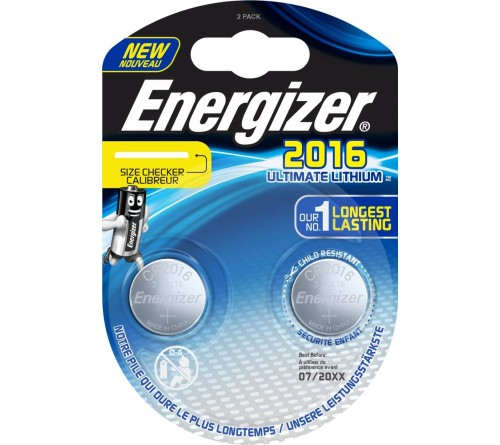 Energizer Ultimate Lithium CR2016 3V 2x baterijos