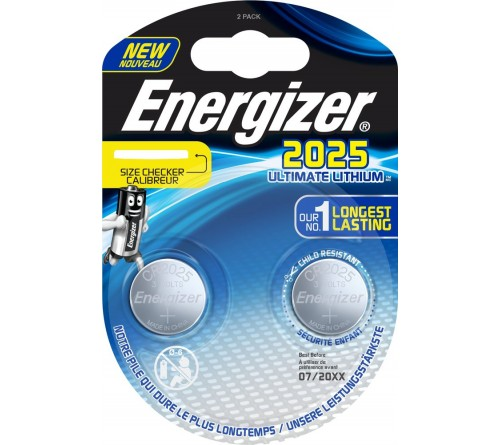 Energizer Ultimate Lithium CR2025 3V 2x baterijos