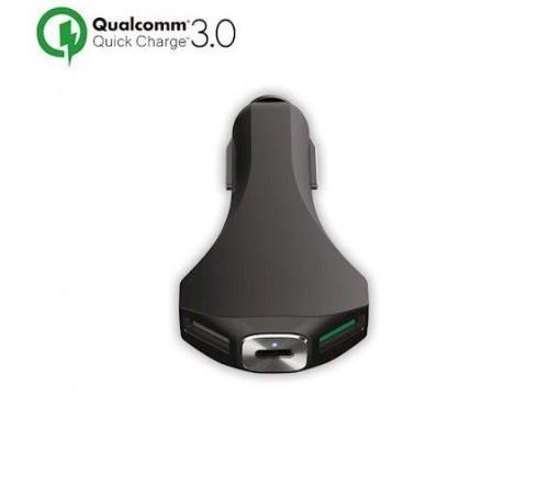 Automobilinis kroviklis 2xUSB 3.0 + TYPE-C ir greituoju krovimu Qualcomm 3.0