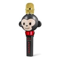 Bevielis mikrofonas su bluetooth funkcija bei integruotu garsiakalbiu juodas