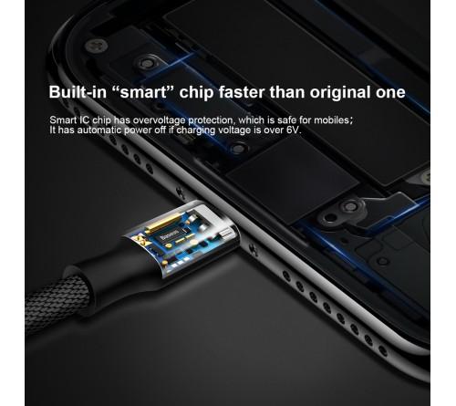 Baseus kabelis Yiven 8-pin | 1,8 m 2A juodas