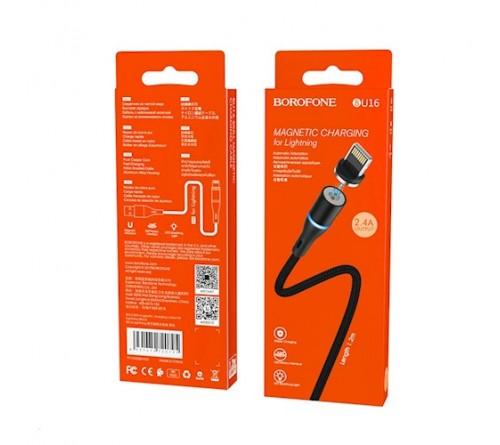 Borofone Magnetinis Kabelis Iphone 8-pin 2,4A 1,2m