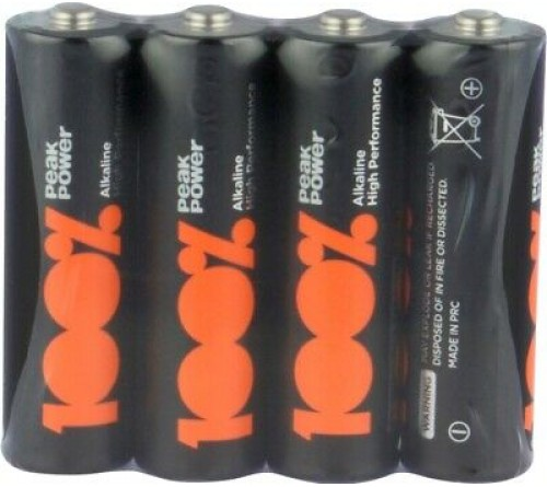 Šarminės baterijos 100% Peak Power Alkaline AA / R6 4 vnt.