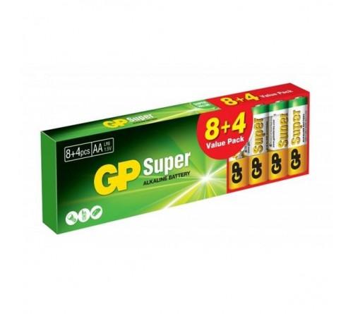 GP SUPER ALKALINE AA / R6 12 vnt. pakuotė
