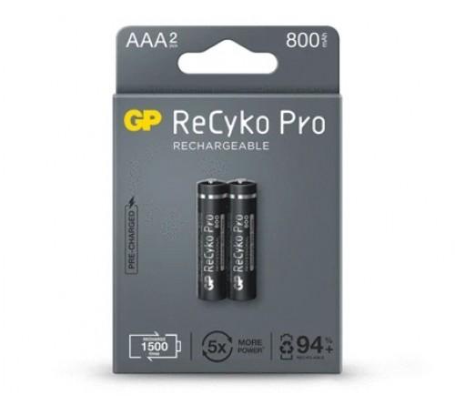 GP ReCyko Pro 800mAh AAA NiMh akumuliatoriai 2 vnt.