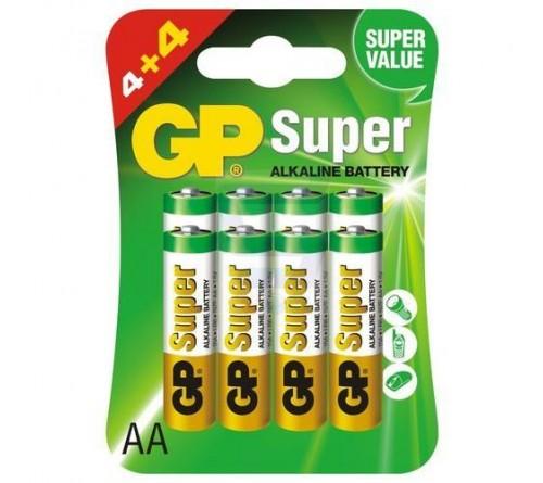 GP Super Alkaline Baterijos 8 vnt. blisteris
