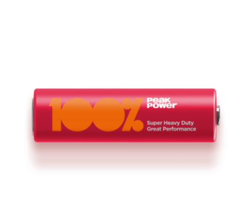 100% Peak Power AA/R6 baterija
