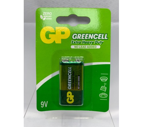 GP GREENCELL EXTRA HEAVY DUTY 9V baterija blisteris