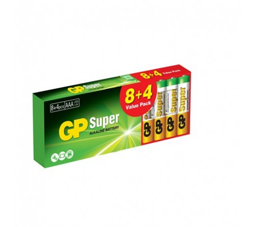 GP SUPER ALKALINE AAA / R3 12 vnt. pakuotė