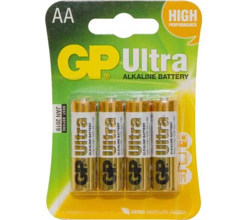 GP ULTRA ALKALINE AA/R6 4x baterijos