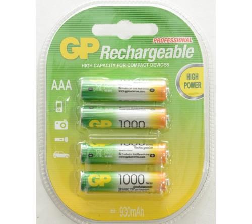 GP akumuliatorius AAA / 1000 mAh / 4 vnt / 1,2 V