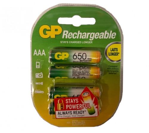GP akumuliatorius AAA / 650 mAh / 4 vnt / 1,2 V