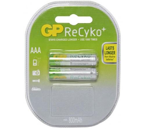GP ReCyko akumuliatorius AAA / 800 mAh / 2 vnt / 1,2 V