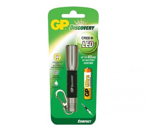 GP Discovery LED metalinis raktu pakabukas / žibintuvėlis 1 AAA