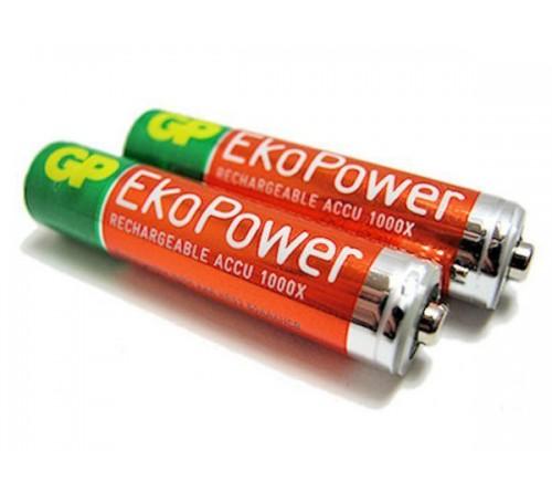 GP EkoPower akumuliatorius AAA / 650 mAh / 2 vnt / 1,2 V