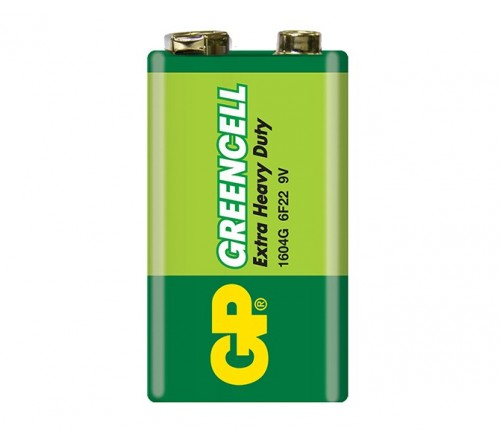 GP GREENCELL EXTRA HEAVY DUTY 9V baterija