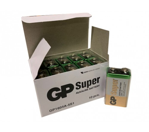 GP SUPER ALKALINE 9V 6F22 baterija