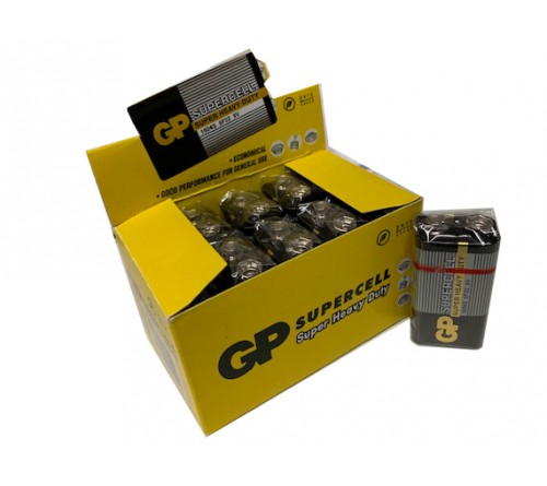 GP SUPERCELL SUPER HEAVY DUTY 9V 6F22 BATERIJA