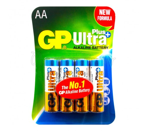 GP ULTRA PLUS ALKALINE AA/R6 4x baterijos