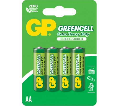 GP GREENCELL EXTRA HEAVY DUTY AA/R6 4x baterijos