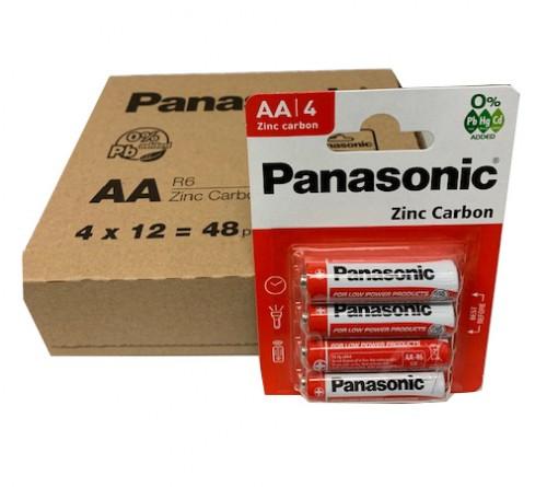 Panasonic Zinc Carbon AA/R6 4x baterijos