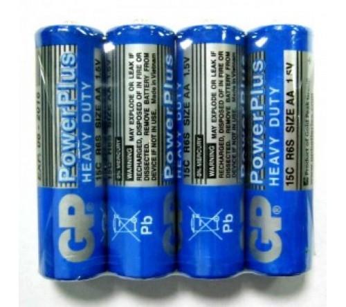 GP POWERPLUS HEAVY DUTY AA/R6 4x baterijos
