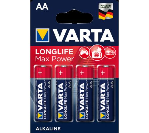 VARTA LONGLIFE MAX POWER AA/R6 4x baterijos