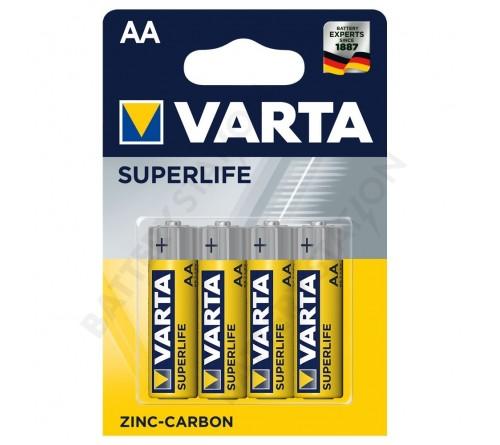 VARTA SUPERLIFE ZINC-CARBON AA/R6 4x baterijos