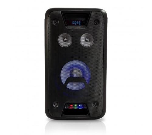 """Nešiojama garso kolonėlė 8"""" 300W (150W RMS) su LED šviesos efektais, Ibiza Sound"""