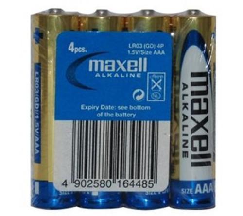 MAXELL Alkaline LR3 / AAA 4 vnt.