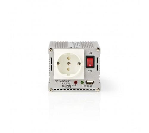 Automobilinis įtampos keitiklis su USB jungtimi 24V/~230V 300W