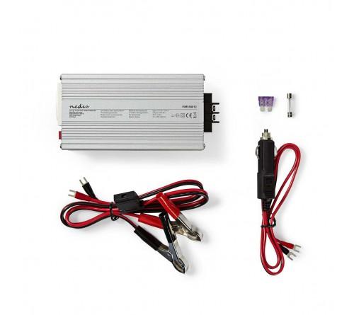 Automobilinis įtampos keitiklis su USB jungtimi 12V/~230V 300W
