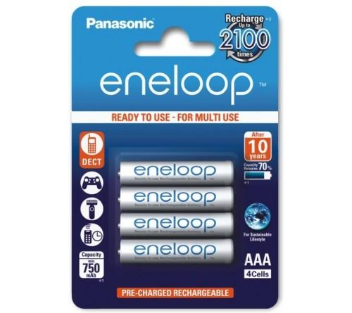Panasonic Eneloop AAA / R3 800mAh akumuliatoriai 4 vnt.