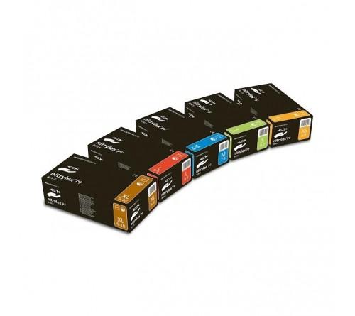 """""""Nitrylex PF BLACK"""" vienkartinės nitrilinės pirštinės be pudros / L Dydis"""