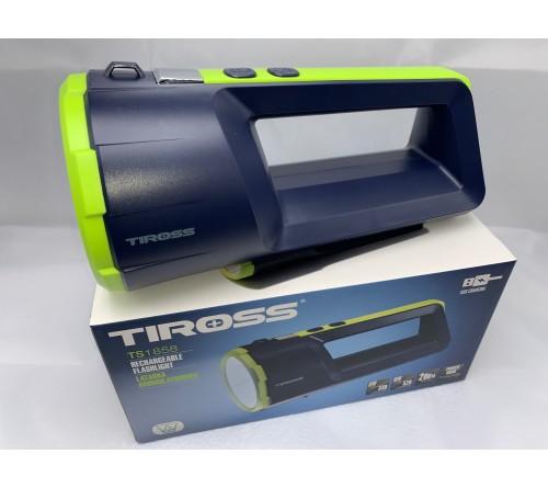 TIROSS TS-1858 įkraunamas žibintas su ličio akumuliatoriumi ir powerbanku