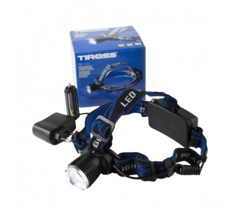 Žibintuvėlis TIROSS TS-1145 tvirtinamas ant galvos fokusuojamas 10W