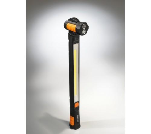 Tiross TS1902 įkraunamas 4400 mAh talpos darbinis prožektorius / galia 10 W / COB 1000 lumenų / su keturiais magnetais ir pasukamais rankenėlėmis.