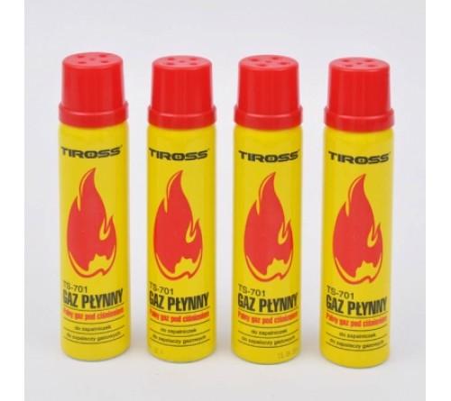 Tiross TS-701 skystosios dujos žiebtuvėliams ir dujų uždegikliams 90 ml.