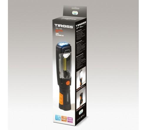 Tiross TS-1108 įkraunamas darbinis prožektorius / 3W LED / 3.7V 2000mAh / 12V - 220V