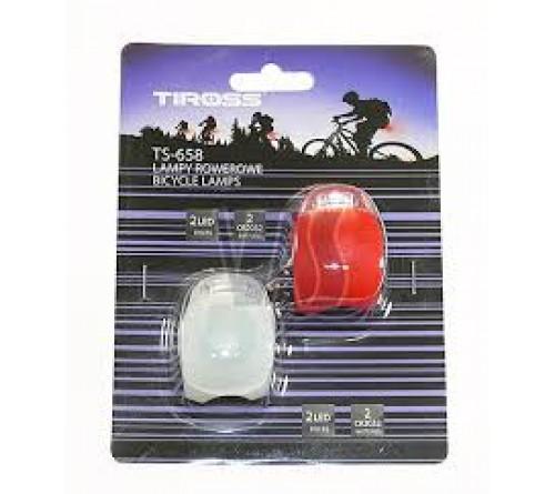 LED silikoniniai mirksiukai dviračiui Tiross TS-658