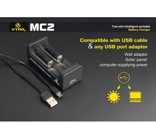 Xtar MC2 dviejų kanalų įkroviklis