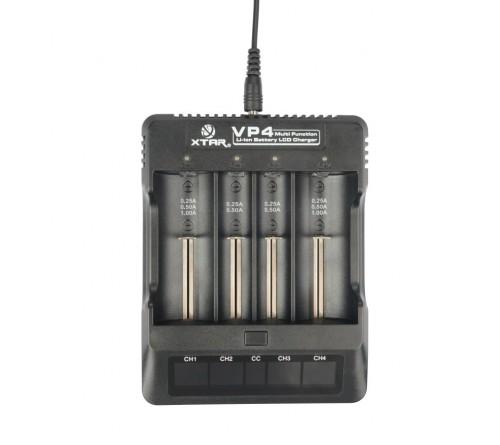 18650 Xtar VP4 cilindrinių akumuliatorių įkroviklis