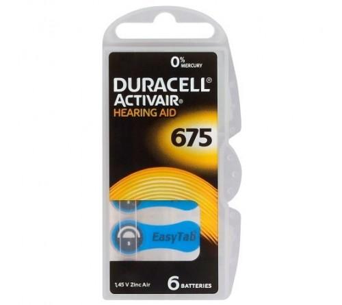 Duracell ActivAir 675 baterijos klausos aparatams