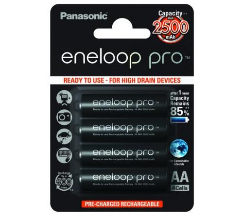 4 x Panasonic Eneloop PRO R6 AA akumuliatoriai 2500mAh
