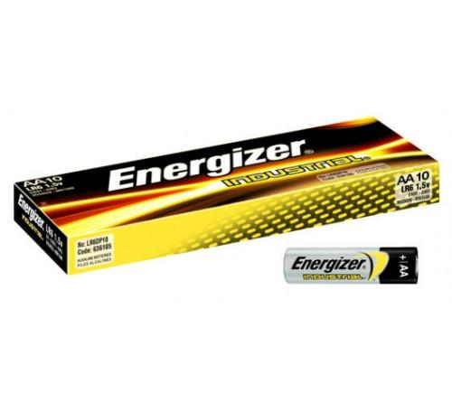 10 x Energizer Industrial LR6 AA baterijų